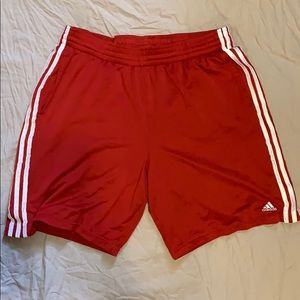 Red Adidas Athletic Shorts